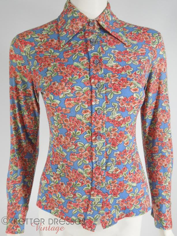 70s HUK A POO Nylong Blouse at Better Dresses Vintage
