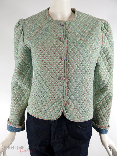 Vera Bradley Indiana Mist Green Quilted Jacket