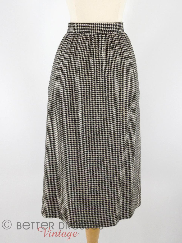 Vtg Cashmere Skirt - front close view