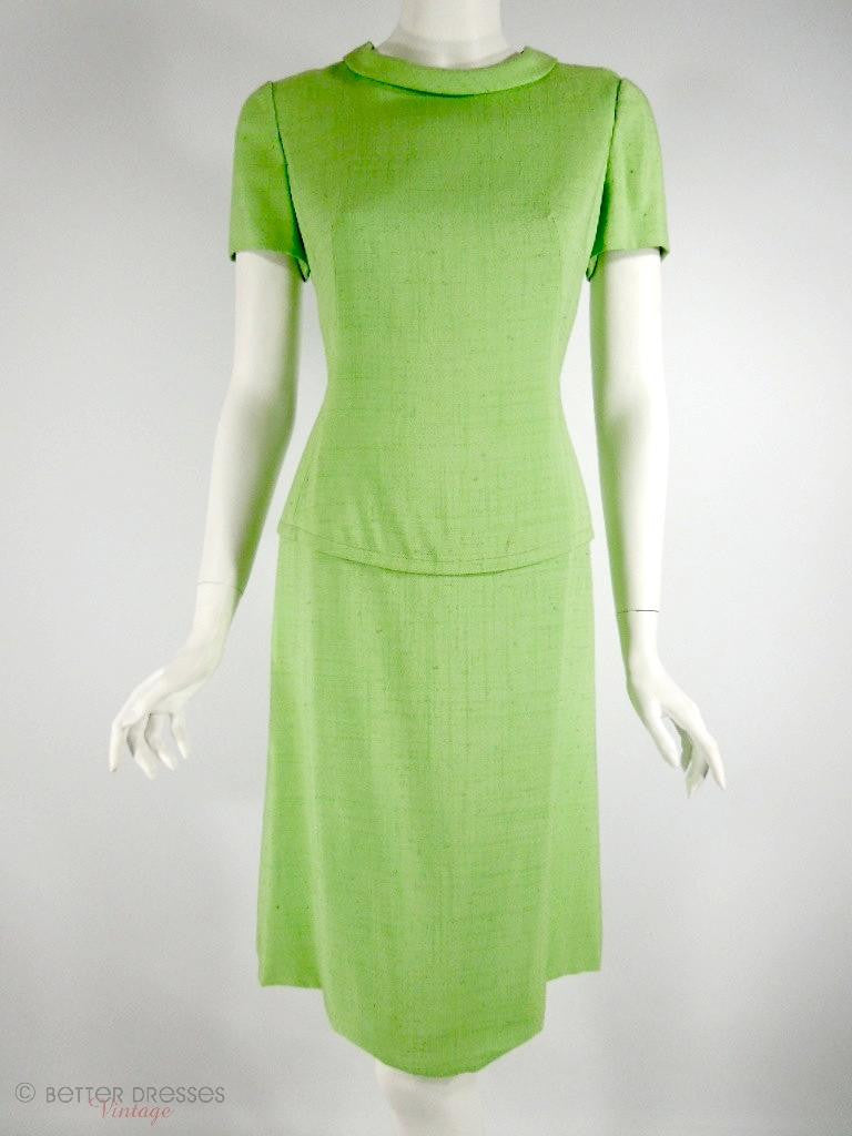 60s Adele Simpson Mod Lime Green Shift at Better Dresses Vintage