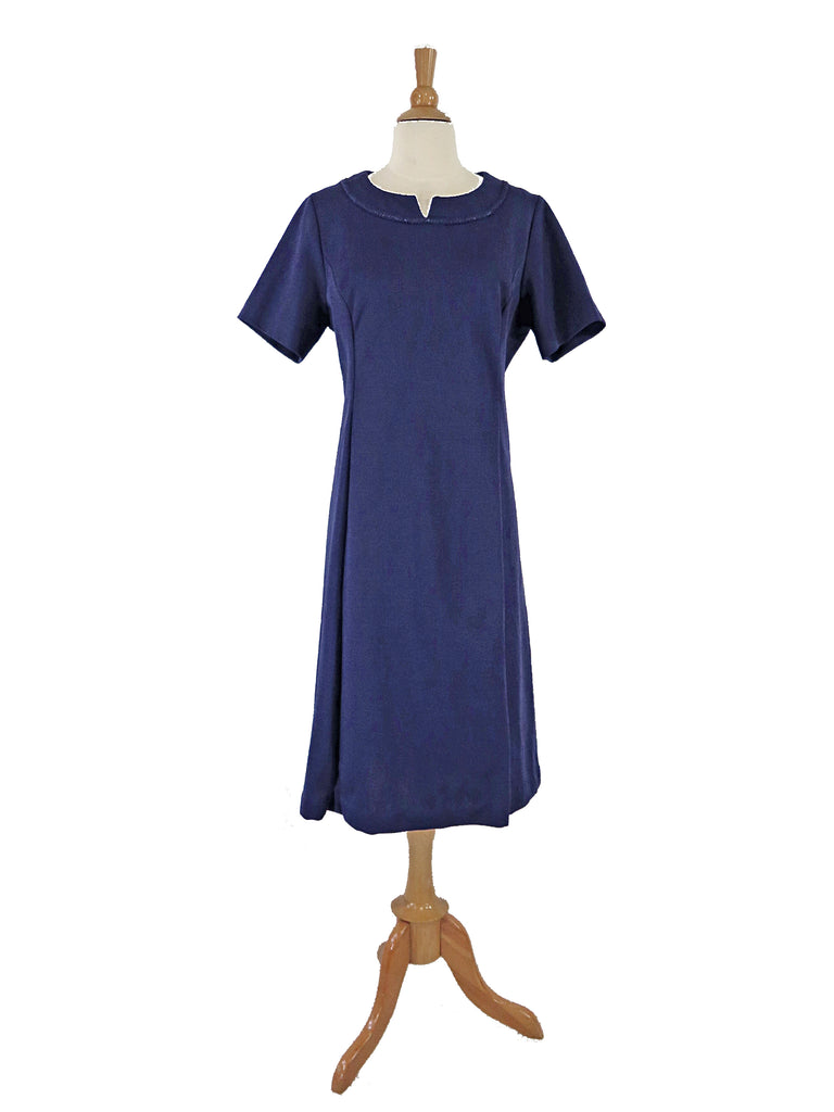 60s Blue Sheath Dress