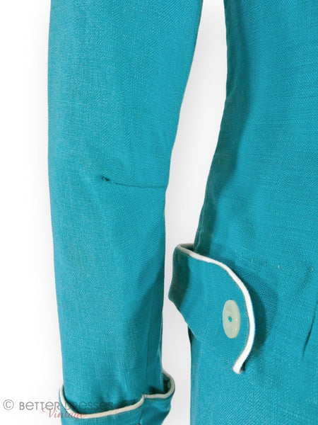 Details of 50s Turquoise Skirt Suit