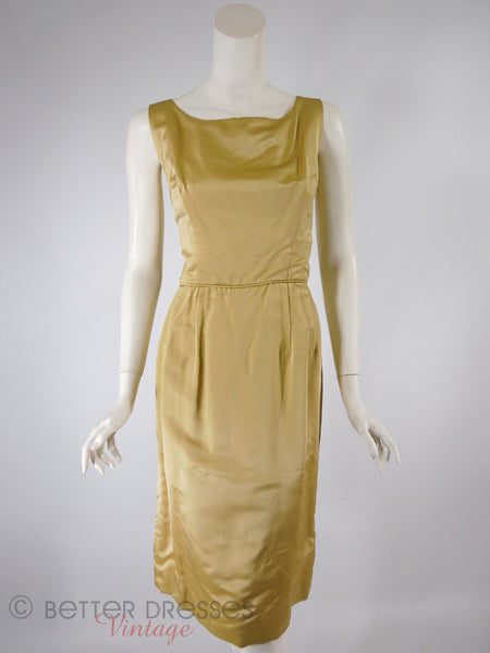 60s Gold Dress + Overlay - sheath