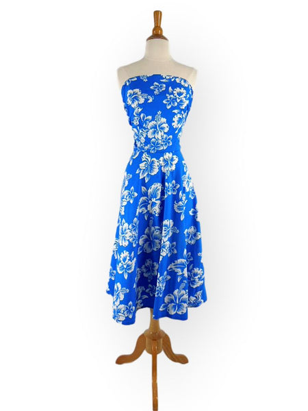 40s Hawaiian Print Tie-Back Sundress - sm