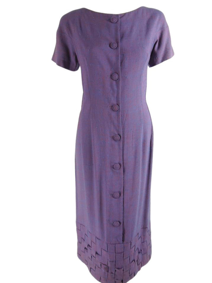 50s Purple Day Dress