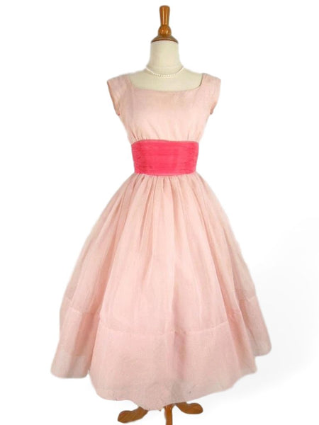 50s pink party dress