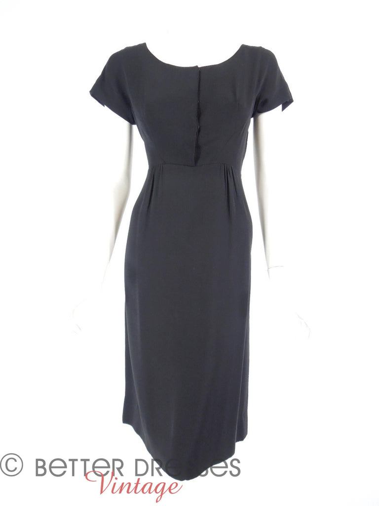 50s LBD in Silk Crepe - front