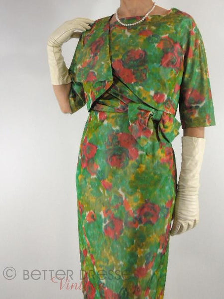 50s Sarong Dress + Bolero Set - jacket close