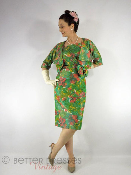 50s Sarong Dress + Bolero Set - full view