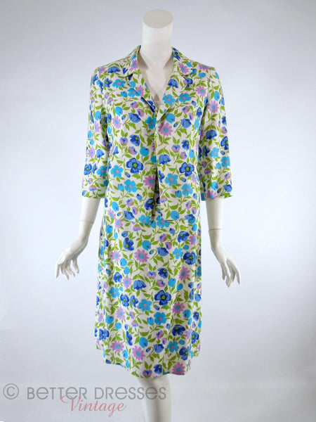 60s/70s Floral Skirt Suit - front