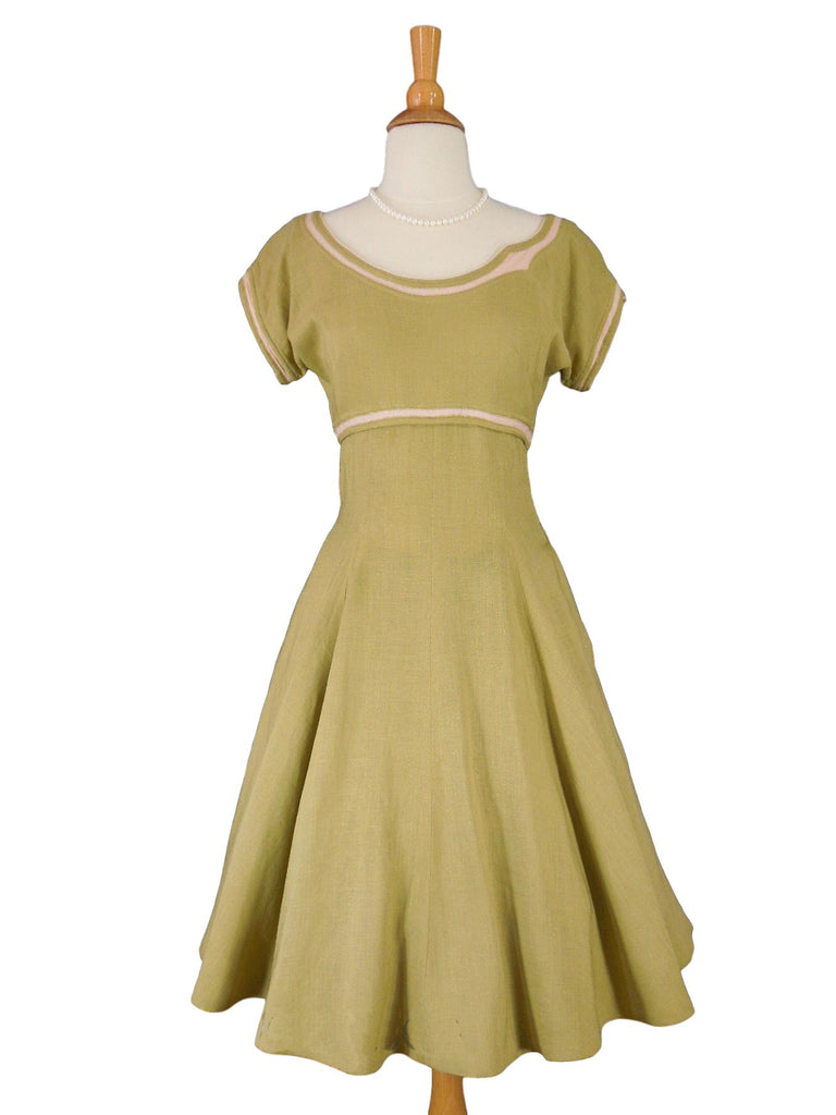 50s Claire McCardell dress with crinoline