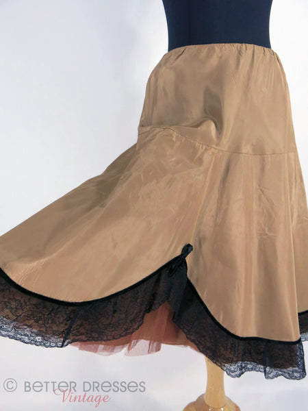 1950s Crinoline in Mocha - held out