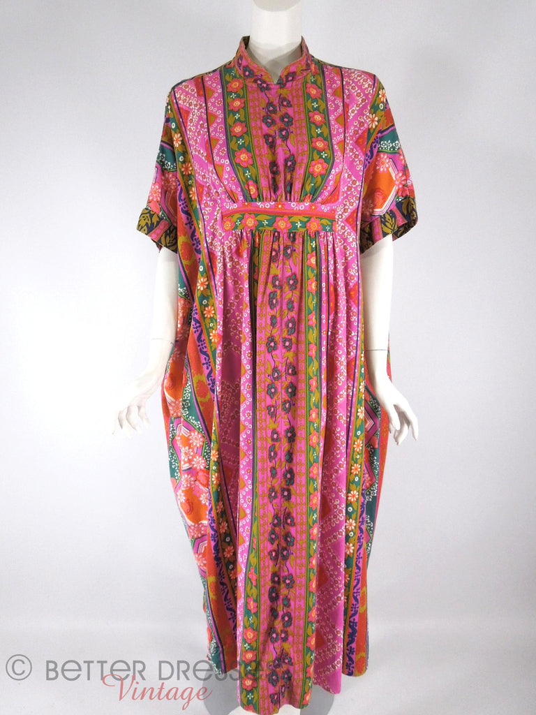 60s/70s Homolu'u Maxi Dress - front view
