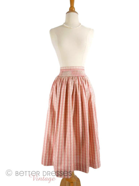 Vintage Pink and Cream Ticking Stripe Skirt