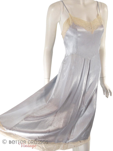 Vintage slip dress or nightie - angle, held out