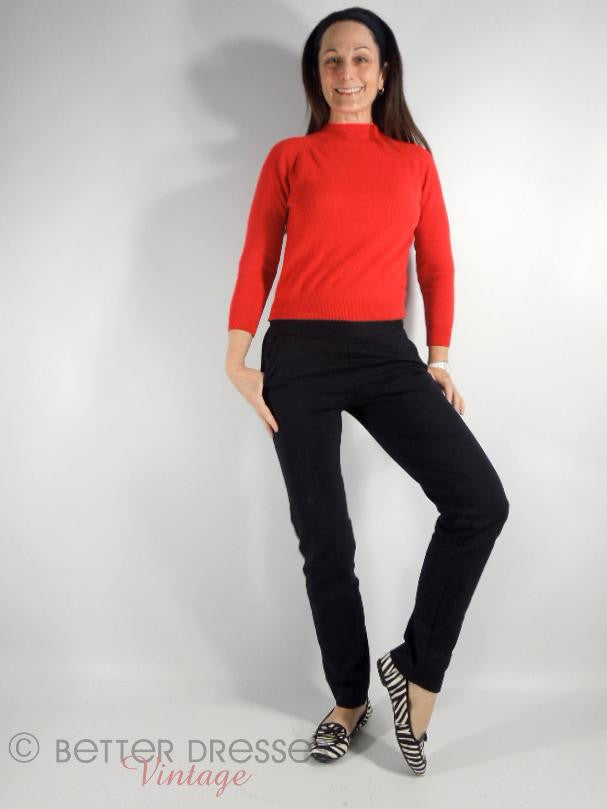 60s Mod Red Wool Sweater