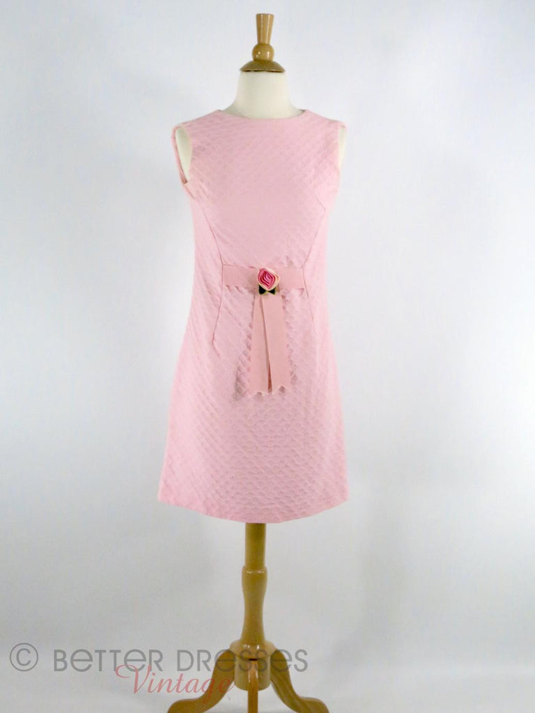 60s Shift Dress in Pink - full view