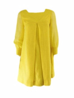 60s Bright Yellow Mod Mini Dress