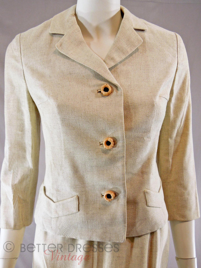 60s Oatmeal Skirt Suit - jacket
