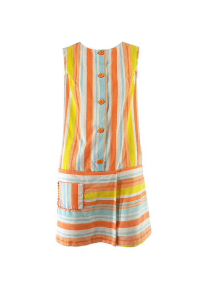 60s Striped Scooter Dress With Shorts