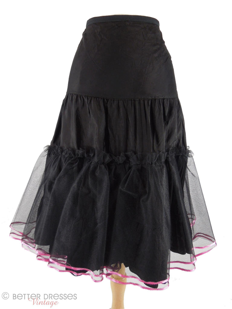 50s Black Crinoline - close view