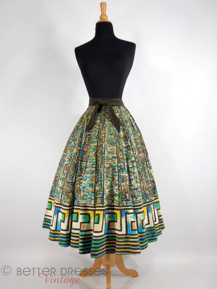 50s Mexican Circle Skirt - sm, med