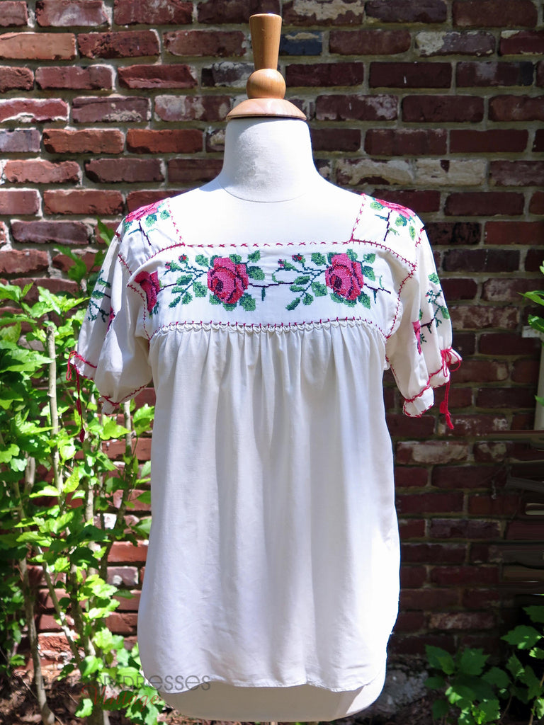 50s Mexican Blouse - front view