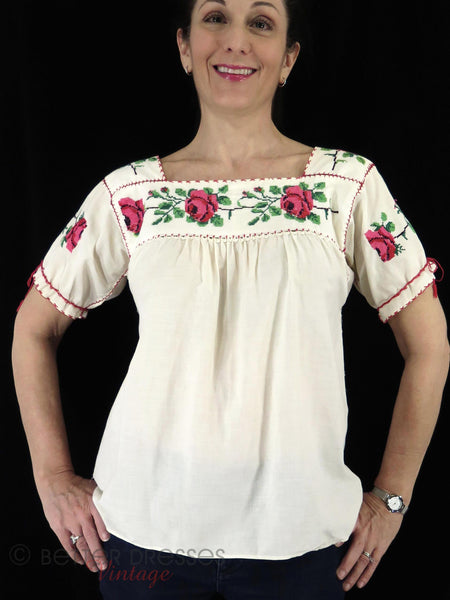 50s Mexican Blouse - on a person