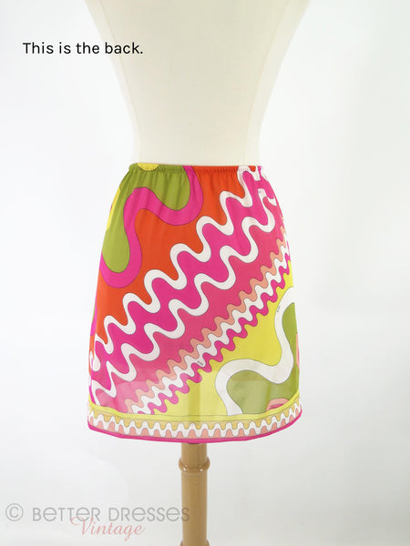 60s/70s Pucci for Formfit Half Slip - back