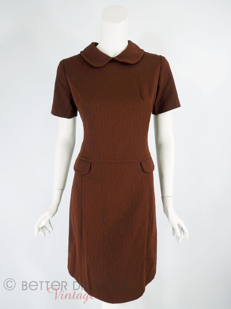 60s/70s Does 20s Mod Shift Dress - front