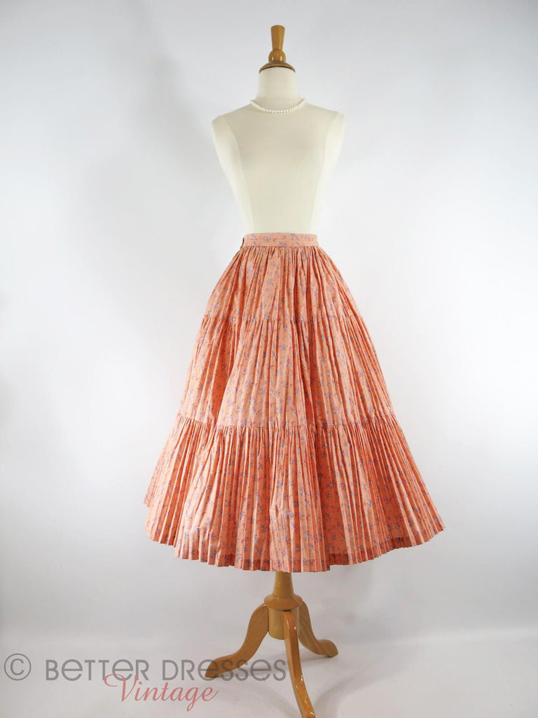 Vintage Martha of Taos Broomstick Skirt - with crinoline