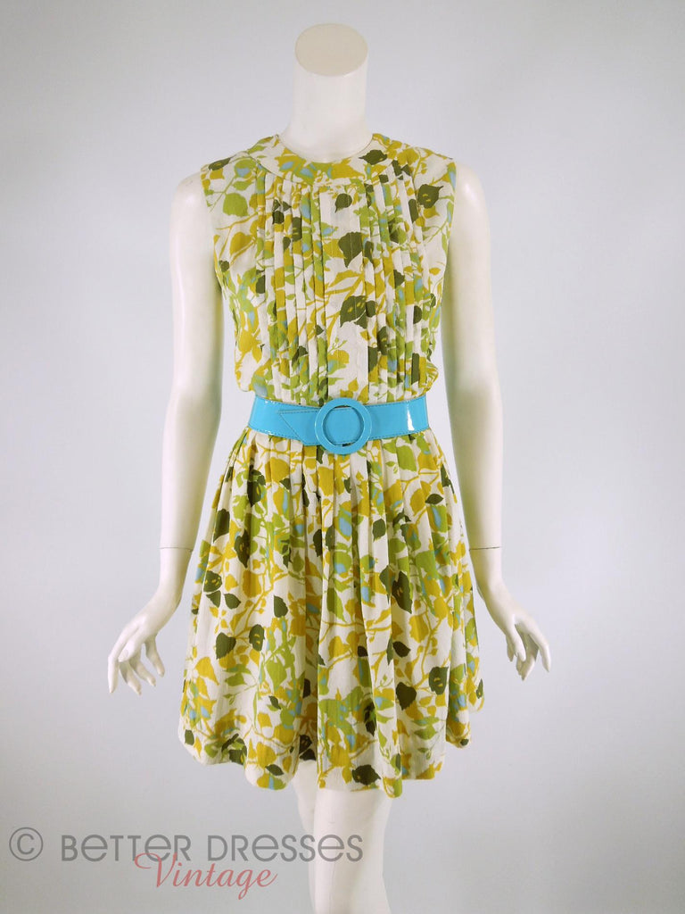 60s Autumn Leaves Day Dress - with belt