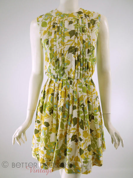 60s Autumn Leaves Day Dress - no belt