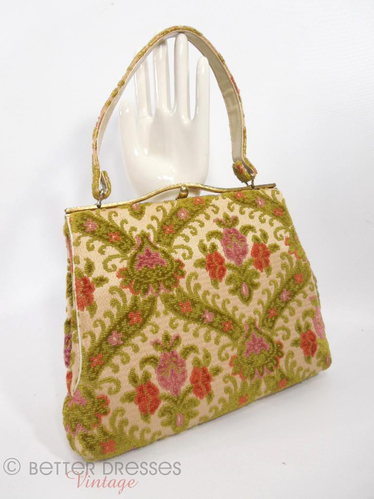 Ingber Chenille Purse - front angle view