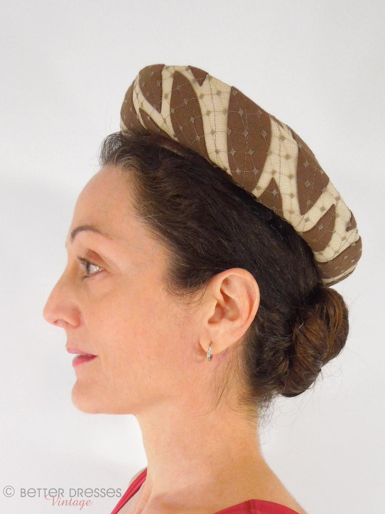 60s Breton Hat - live model side view