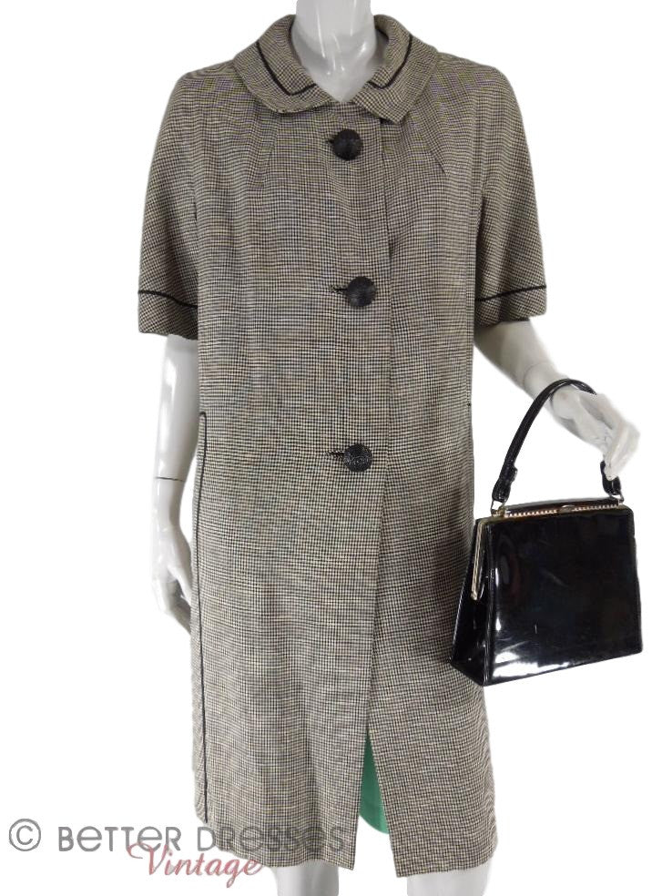 50s Black and White Coat - front