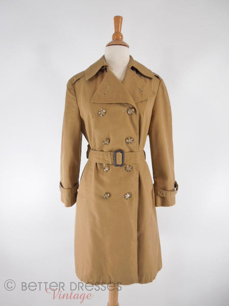 60s/70s Khaki Trench Coat - front
