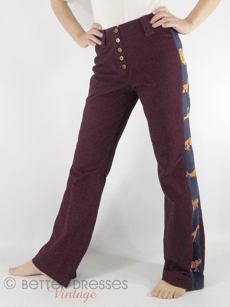 Vintage High-Waist Trousers - on model front