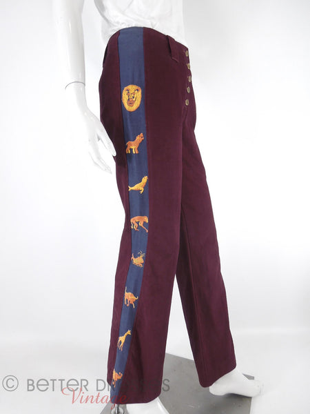 Vintage High-Waist Trousers - right side view