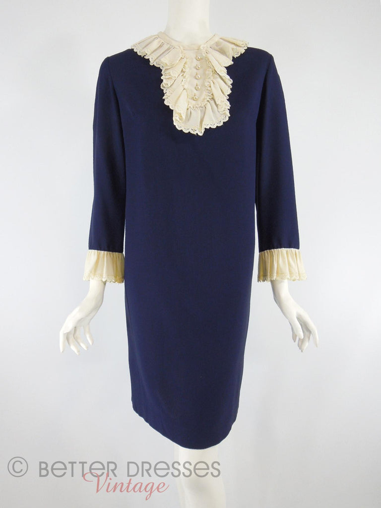 60s Navy Shift With Jabot - front view
