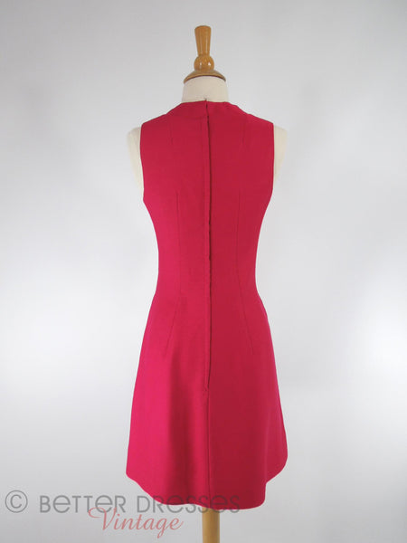 60s Mod Cocktail Dress - back