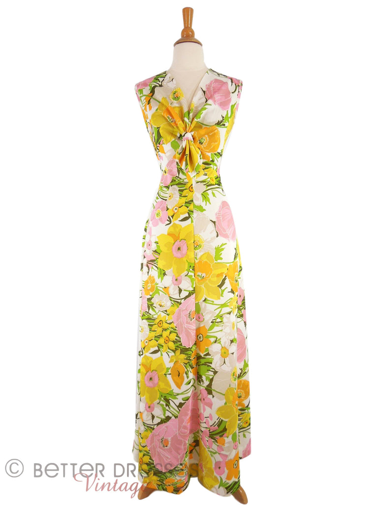 70s Daffodils Maxi Dress