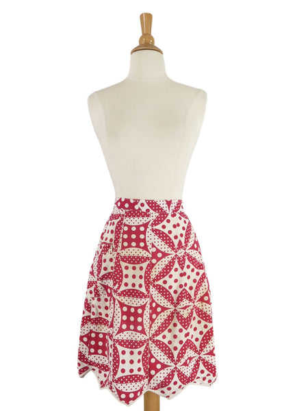 Vintage 40s Half Apron - far view