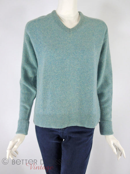 60s/70s Blue Wool Sweater - front