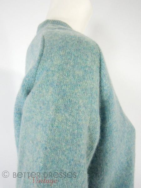 60s/70s Blue Wool Sweater - shoulder