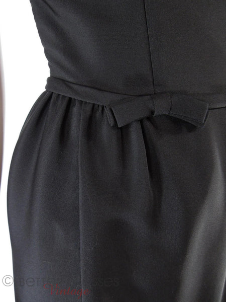 50s Little Black Sheath Dress - detail