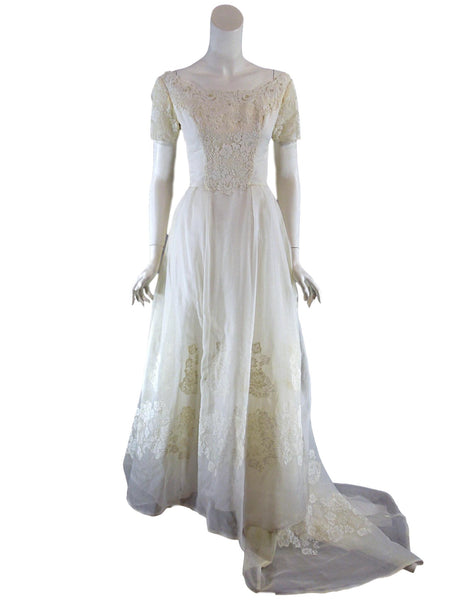 60s Wedding Gown - front view
