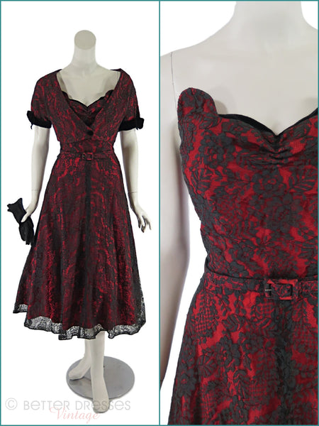 40s/50s Lace Dress & Bolero - main views