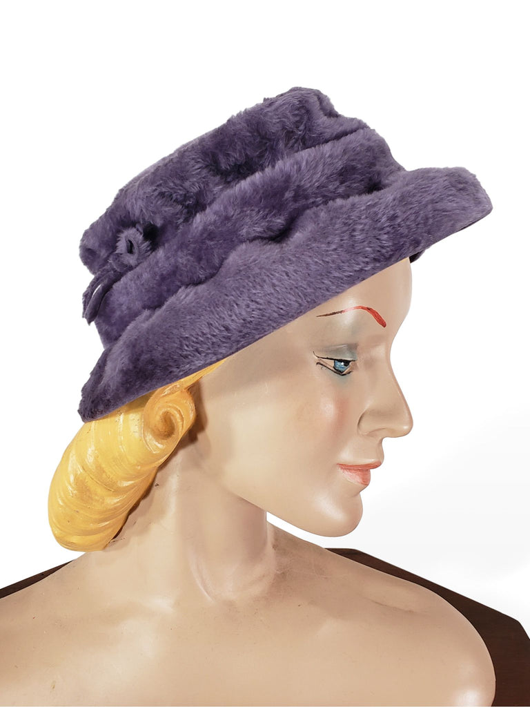 50s/60s Purple Fur Felt Hat