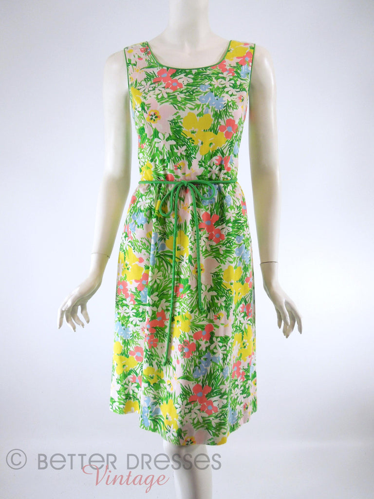 70s Floral Sundress - full view
